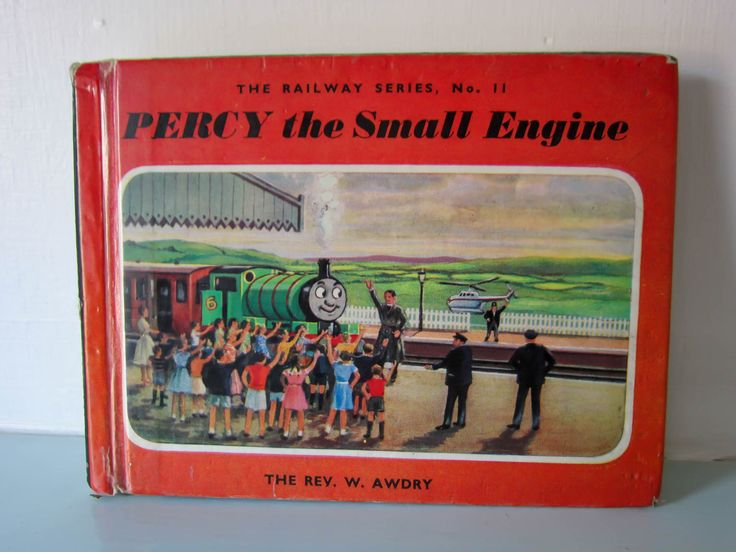 Thomas the tank engine, childs vintage book, Percy the small engine, Vintage children's story book, English, Steam train, collectible book by thevintagemagpie01 on Etsy