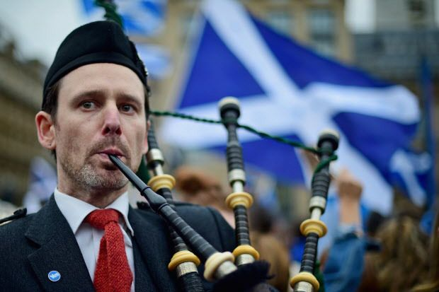 Fisher: Yes side prominent, no side almost nowhere to be seen ahead of Scottish vote on independence