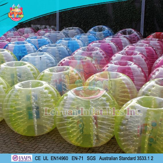 Bump Ball Bumper Ball is a good and interesting sport game! People can wear it and bump to each other or play football together with great fun and safely!