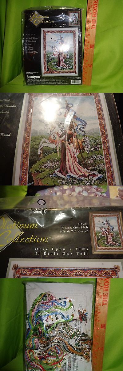 """Cross Stitch Kits 34017: Janlynn Platinum Collection """"Once Upon A Time"""" Counted Cross Stitch Kit -> BUY IT NOW ONLY: $49.49 on eBay!"""