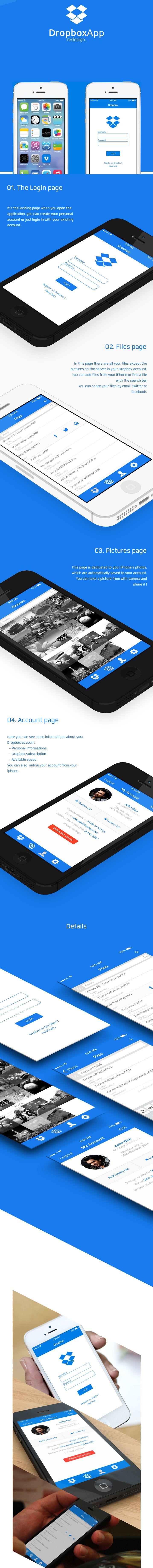 Dropbox App #ui #app #ios