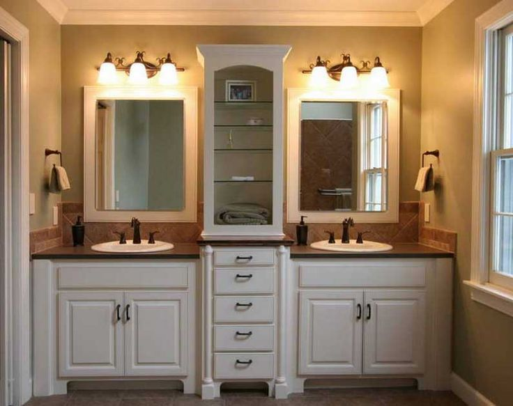 Agreeable Double Vanity With Marble Top Also Wall Lights Vanity Over Mirror Hang On Grey Bathroom
