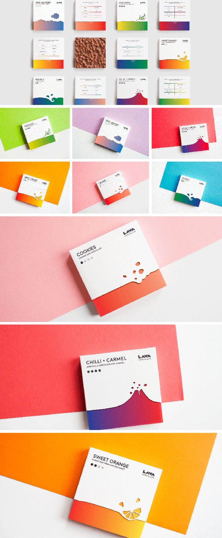 LAVA chocolate packaging designed by Iwona Przybyła, Poland.