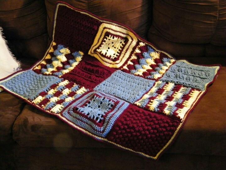 Sampler crochet rug.