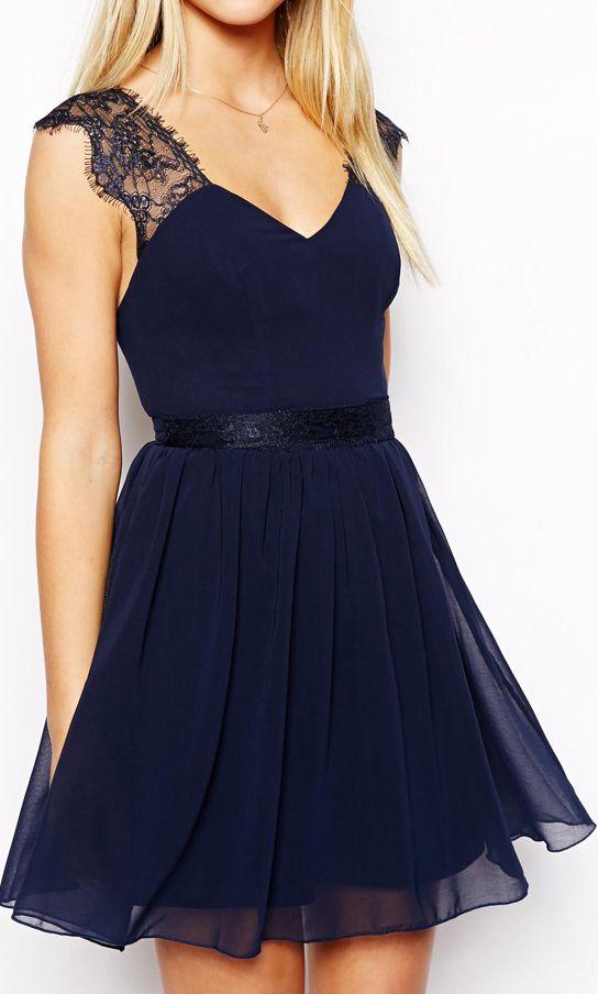 Eyelash chiffon dress