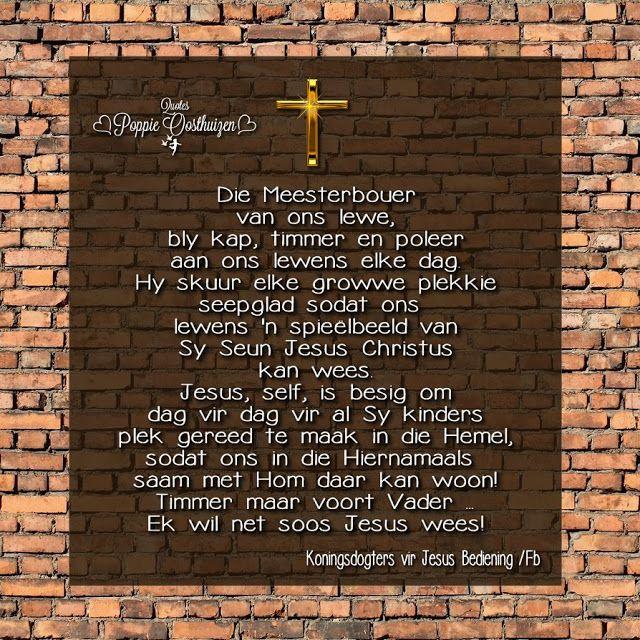 Christelike Boodskappies: Meesterbouer