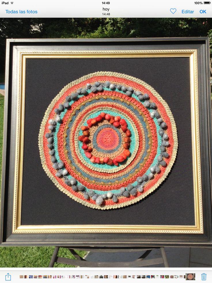 Fiber Art. Crochet Mandala
