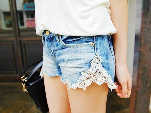denim n lace - totally my style and saw it in AE this spring - been digging this for about 30 years tho