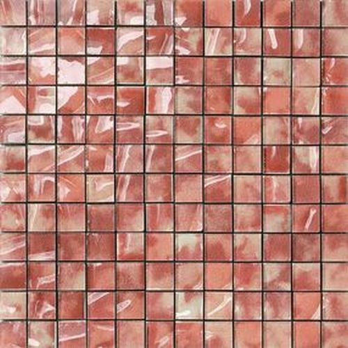 #Settecento #Musiva Rosso Rubino 2,2x2,2 on grid 28,6x28,6 cm 100514 | #Glas on ceramic | on #bathroom39.com at 215 Euro/sqm | #mosaic #bathroom #kitchen