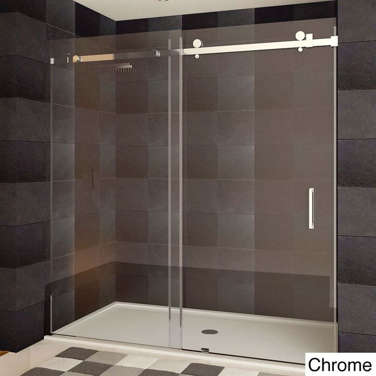Small Bathroom With Frameless Shower: 25+ Best Ideas About Sliding Shower Doors On Pinterest