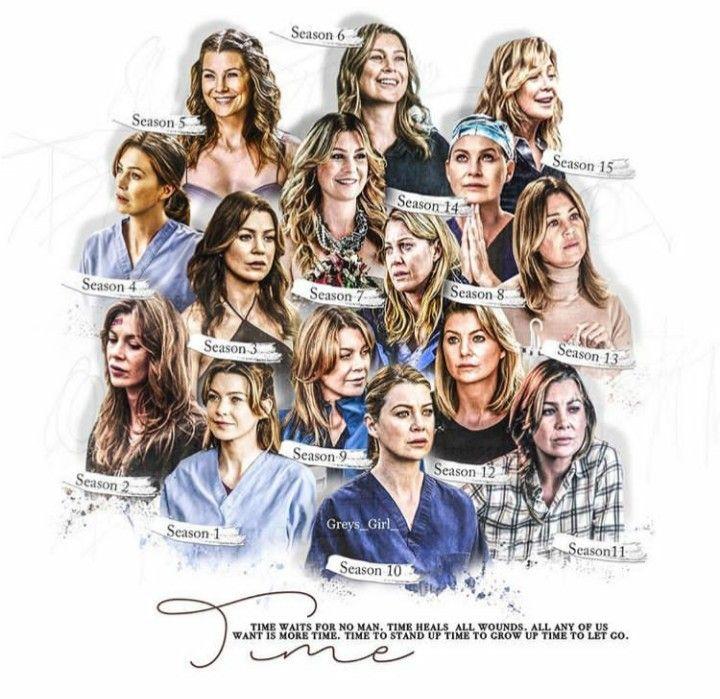 Meredith Throightout The Season Greys Anatomy Greys Anatomy Memes Greys Anatomy Facts