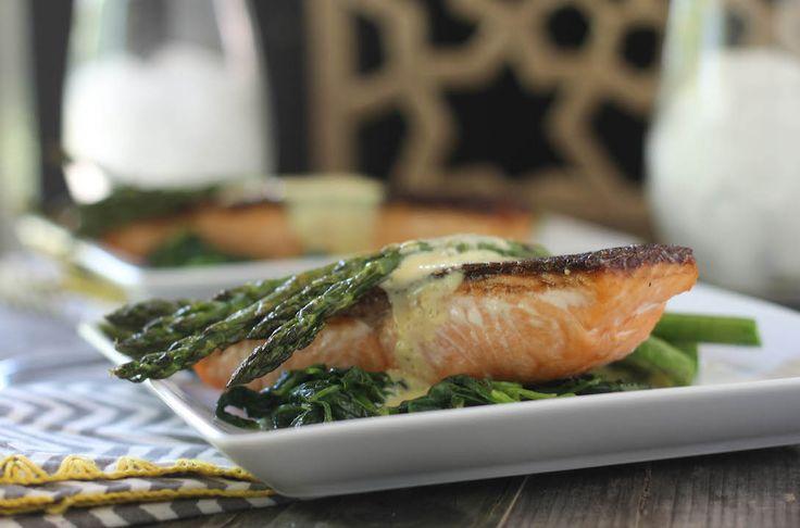 Crispy Skin Salmon With B Arnaise Sauce Recipe Sauces
