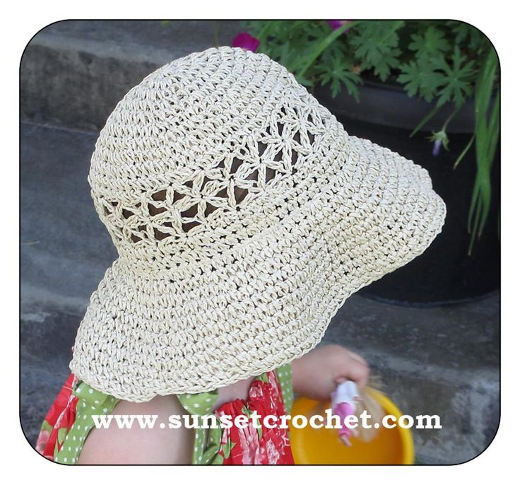 Daisy Stitch Straw Hat by Sunset Crochet Crocheting Pattern ...