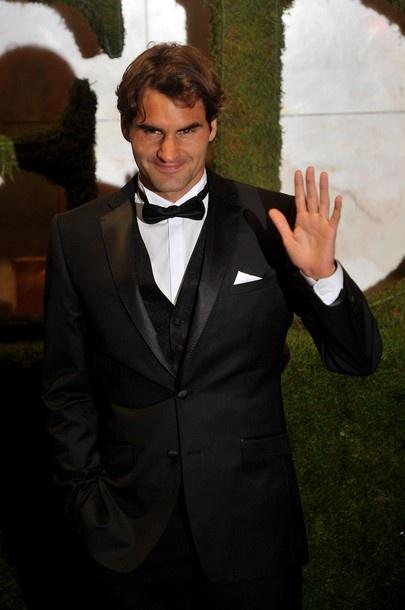 Roger Federer at Wimbledon Ball 2012