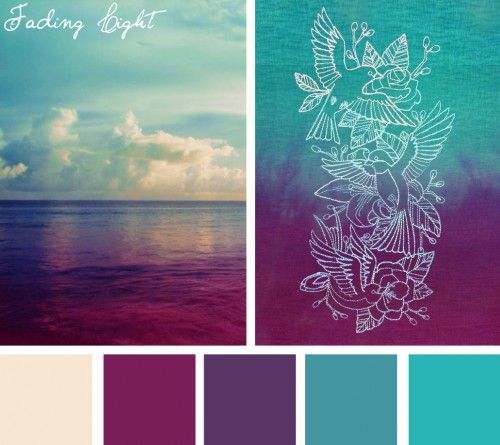 possible palette for storm at sea quilt - Color Schems