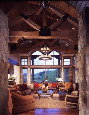 Mountain Home Modern Rustic Living Room--Design One Interiors! #Colorado #interiordesign