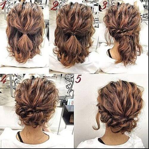 low bun for short hair updos for short hair