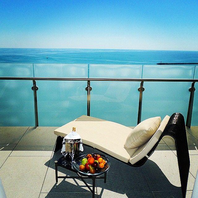 Relaxing moment on the Presidential Suite terrace at Hyatt Regency Sochi.