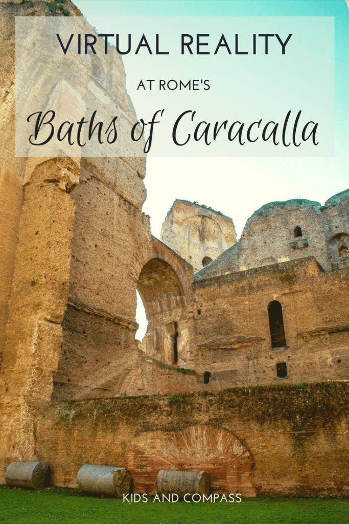See Ancient Rome as you've never seen it before. Visit the amazing Baths of Caracalla and take a virtual reality tour through the ancient ruins. Guaranteed to impress even the pickiest kids. #bathsofcaracalla #ancientrome The Baths of Caracalla are just outside the centre of Rome, Italy. | Baths of Caracalla Rome | Things to do in Rome | Virtual reality reconstruction |