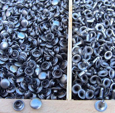 lot de 100 rivets Diametre 8mm METAL MAT COTES PRECISES AU DIXIEME DE MILLIMETRE DIAMETRE  TETE 7.8 MM HAUTEUR TIGE TROMPETTE 8.8 MM DIAMETRE EMBASE TROMPETTE 8.8MM SECTION 3M - 9434353