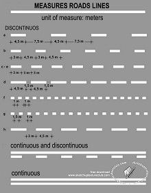 Textures International road lines measures 18737 | Textures - ARCHITECTURE - ROADS - Roads Markings | Sketchuptexture