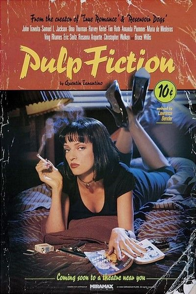 Pulp Fiction #MoviePoster #Movie #Poster