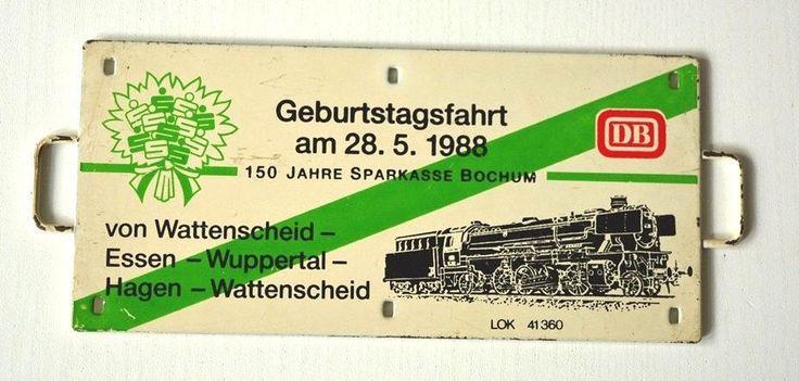 Vintage Blechschild/Werbetafel Geburtstagsfahrt Mai 1988 Wattenscheid - Wuppertal Mai 1988 Dampflok Sammlerstück. von VintageLoppisStyle auf Etsy
