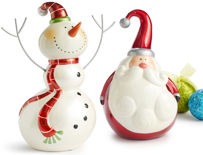 Pier 1 Joyful Snowman and Santa are guaranteed to impart a dose of Christmas cheer