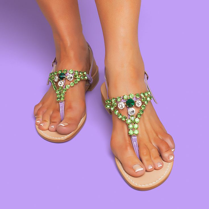 Bling and comfort. These beauties come in either a little 2cm heel or in flats. Worldwide shipping  #ankaliasandals #ankaliadesigns #sandals