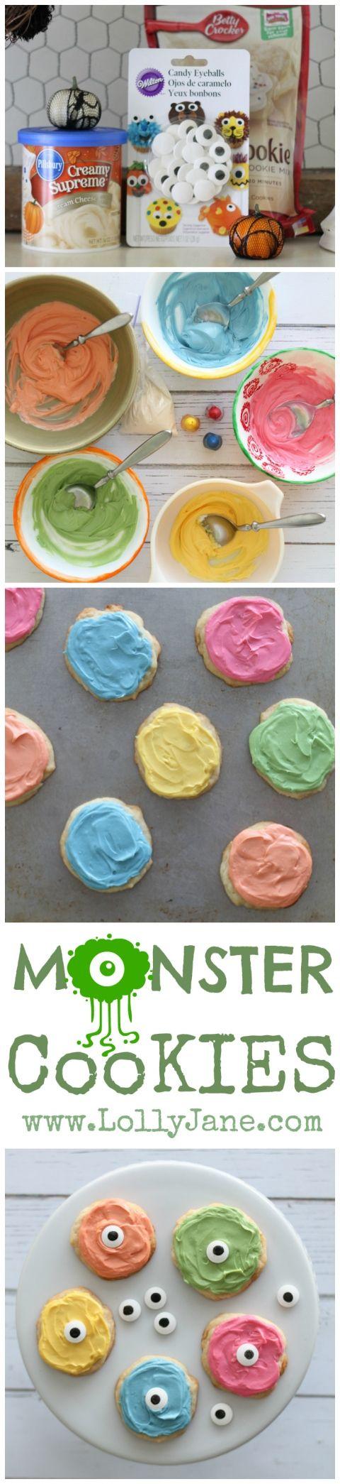 Easy monster cookies!