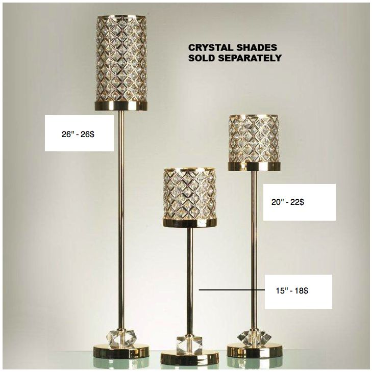 crystal gold candlestick