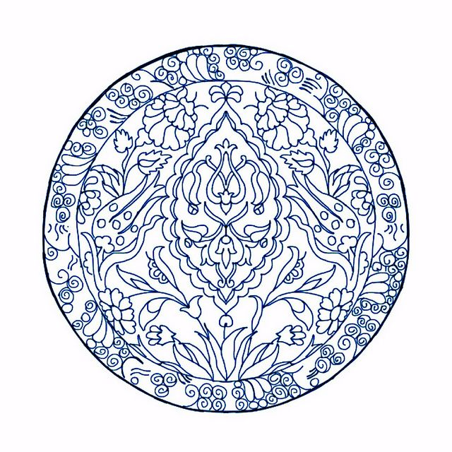 Ornament / Mandala to Color - 3 different tints available