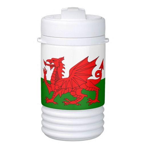 Wales flag drink dispenser