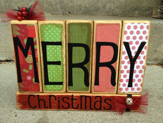 MERRY CHRISTMAS holiday decoration primitive by FayesAttic11, $23.00