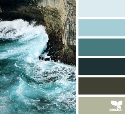 color surf #color #palette #designseeds #seeds #seedscolor #turquoise #sea #aqua #teal #brown