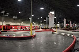 Race electric go-karts reaching speeds up to 50MPH! Autobahn Jacksonville, Florida