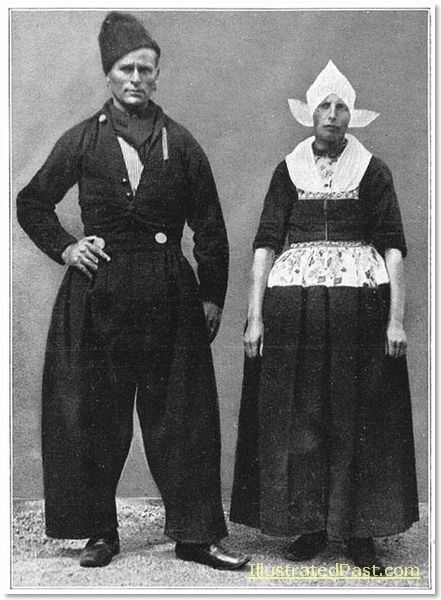 A Man and Woman from Volendam in their Sunday Clothes. 1916. Could they be any taller?