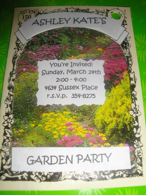 Make invitations using a seed packet for a  Garden Party + more Garden Party ideas!