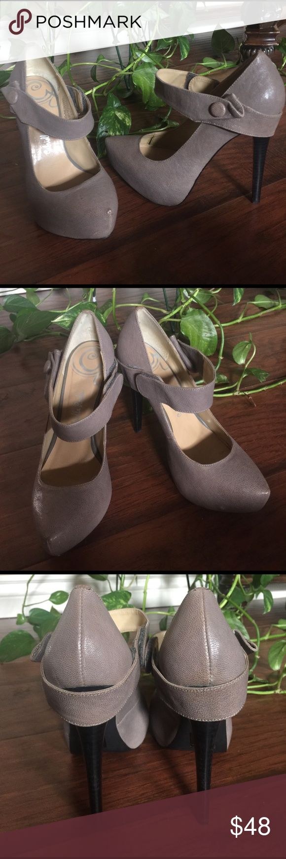 "Gabriela Rocha leather heels Taupe leather heels with velcro fastener. Great comfortable heels, perfect color to go with every outfit! From the office to drinks...Day to Night effortlessly 😍.... approximately 5"" heel with 1"" hidden platform. ... ✨EXCELLENT CONDITION ✨ MAKE AN OFFER ✨✨ Gabriella Rocha Shoes Heels"