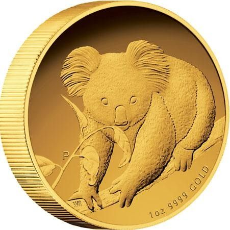 Australian Koala 2010 Gold Proof Coin  High relief  2010 kangaroo  gold coin  , Perth mint gold coin, gold coin ,gold,  1 ounce gold coin