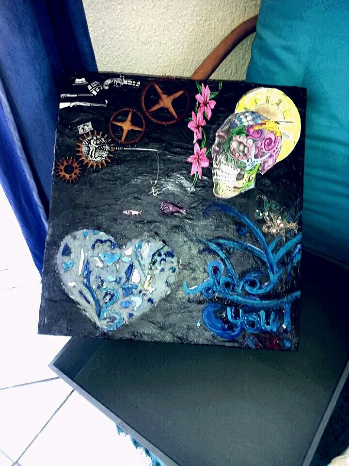 Mixed Media on Wooden Box Gusso Premier