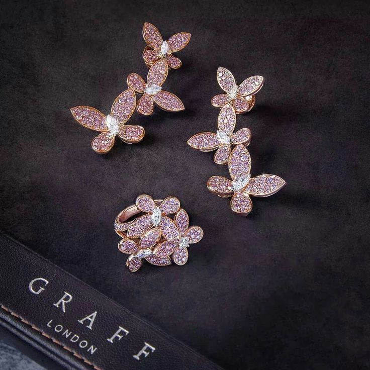 Beautiful Rose Gold And Pink Pave Erfly Collection From Graff Diamonds Jewelry