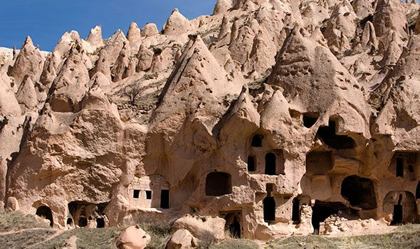 Goreme, Capadocia, Turkey: The fascinating rock formations that make up the UNSECO World Heritage Site that surrounds the town of Goreme have long fascinated visitors.