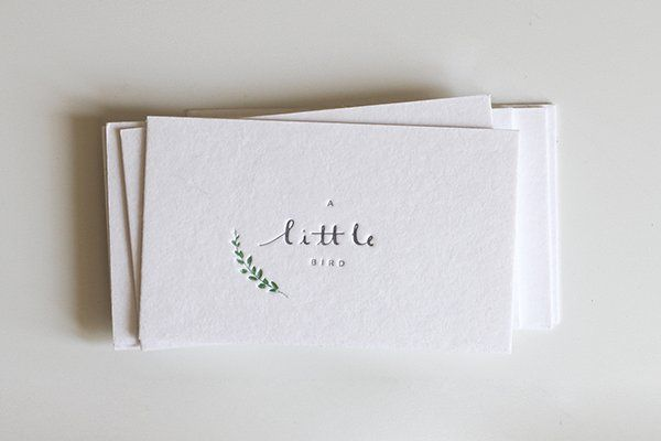 55 cartões de visita impressos em tipografia - Assuntos Criativos