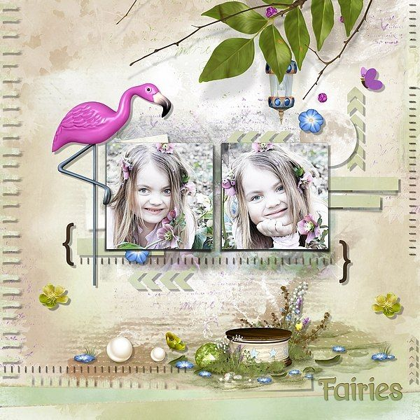 Fairies by Bel Scrap Template by SoMa Designs Rak for Lenka S.