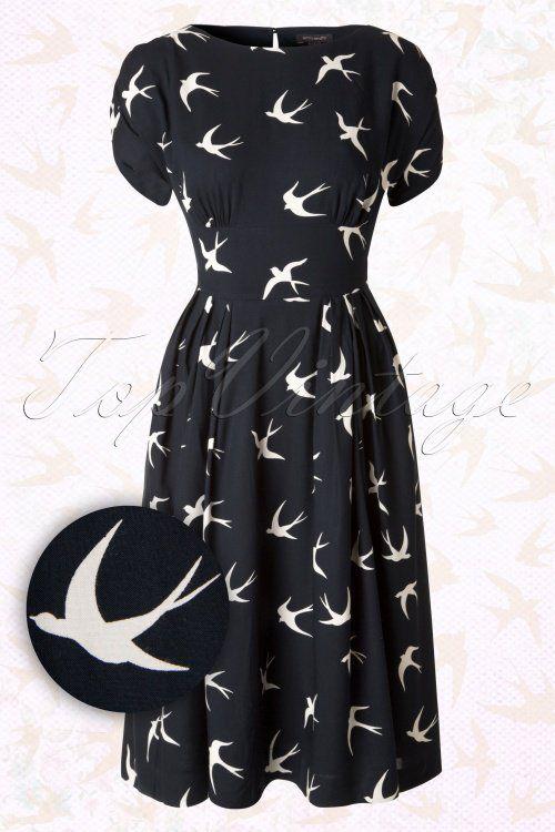 Emily and Fin Navy Blue Swallow Fern Dress  102 39 15238 20150820 0002W1