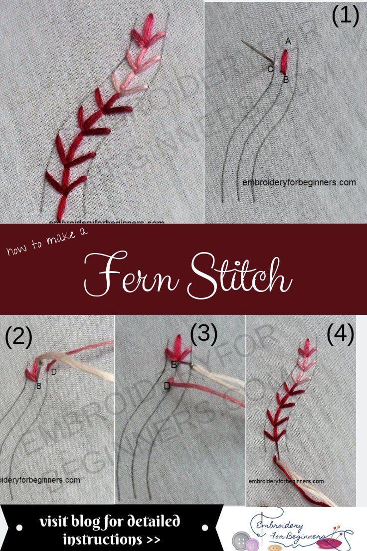 Fern Stitch How To Work A Fern Stitch Step By Step Video
