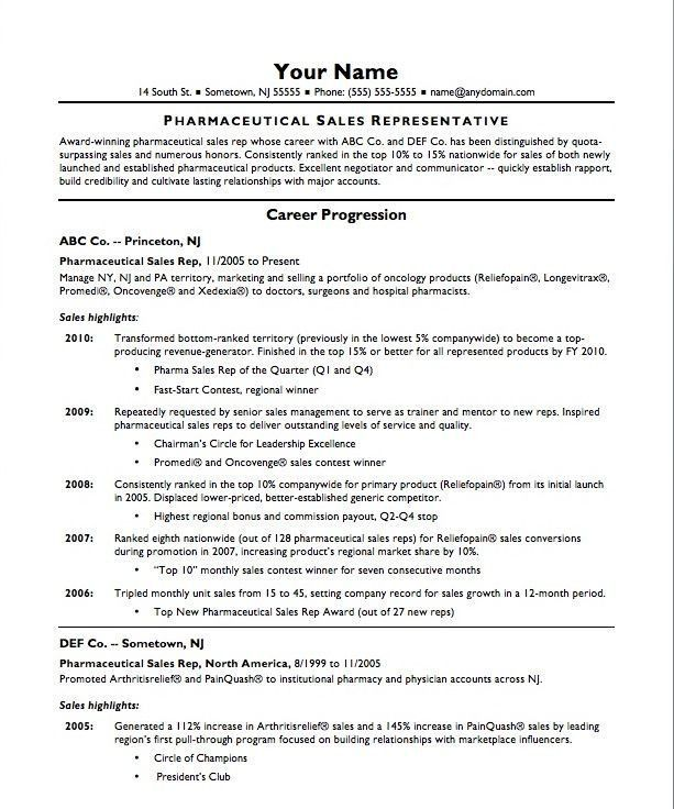 Pharmaceutical Sales Rep Resume Famous 10 Best Images About Best