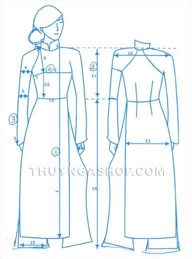 Measure wedding-ao-dai-vietnamese-traditional-dress