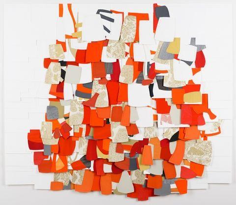Raymond Saá Works on paper gouache, collage on sewn paper